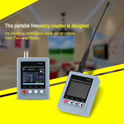 SF-103 Portable Frequency Counter Tester Meter 2MHz-2.8GHz+TFT Color Display JJ