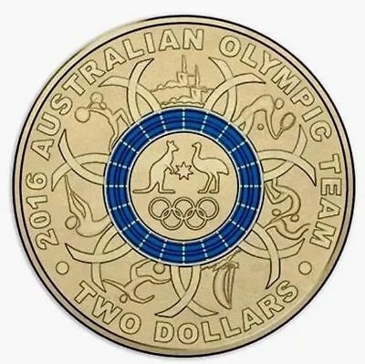 2016 Olympic $2 Coin Australian Two Dollars - LAST ONES BLUE COLOUR - Ex Bag Unc