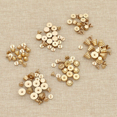 1 Set Solid Brass Rivet Screws DIY Button Hole Feet Accessories Crafts Tools