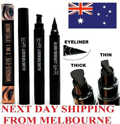 Eyeliner Stamp Black Cat Eye Wing Liner Ink Long Lasting Thin/Thick