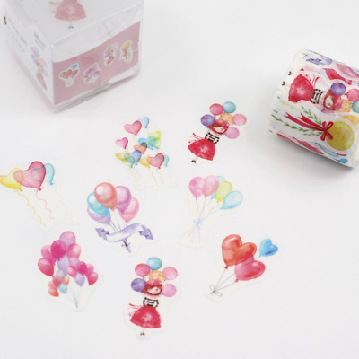 Washi Tape Sticker Roll - Cute Balloons 38mm - 80 Stickers