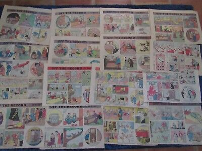 Lot Vintage 1930's Newspaper Comic Strips-Off the Record-Ed reed-The Willets-30s