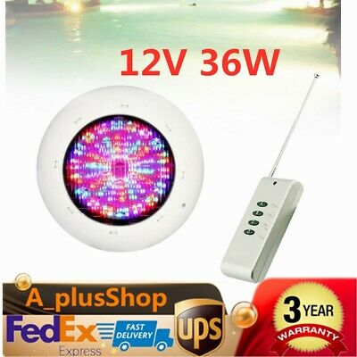12V 36W RGB 360 LED Swimming Pool Lights Spa Underwater IP68 Waterproof Lamp USA