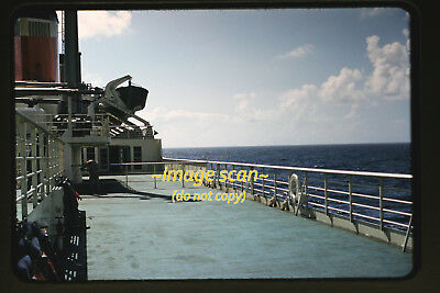 1950's View aboard the SS United States Passenger Ship, Original Photo Slide a7a