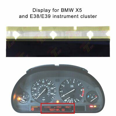 LCD Display for BMW X5, and 3-series E38/E39 of instrument cluster pixel missing