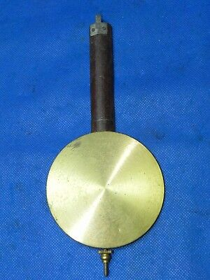 "Antique 1839 Vintage Clock Pendulum 3-1/2"" Diam. 8-1/2"" Long, 4.3 oz. Cast Iron"