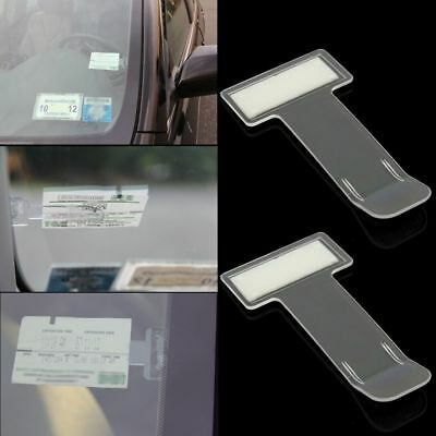 2Pcs Car Vehicle Parking Clip Sticker Ticket Permit Holder Window Kit