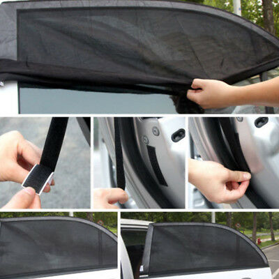 2Pcs Car Sun Shade Shield Socks Rear Side Window Square UV Cover