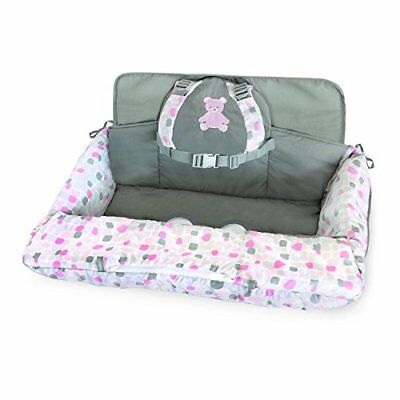 Carter's 2-in-1 Shopping Cart and High Chair Cover Bear Pink/White Covers Baby