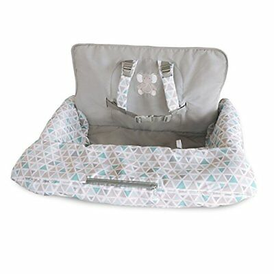 Carter's 2-in-1 Shopping Cart and High Chair Cover Triangles Grey/Blue Covers