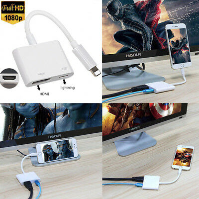 Lightning to Digital AV TV HDMI Cable Adapter For Ipad air iphone 6S 7 8 Plus 5S
