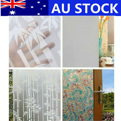 Removable PVC Door Window Film Sticker Frosted Glass Privacy Home Decor 90CM*5M