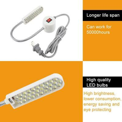 30 LEDs Sewing Machine Light Working Flexible Gooseneck Lamp with Magnetic Base