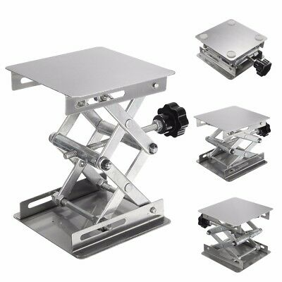 4''x4'' Stainless Steel Lab Stand Table Scissor Lift Laboratory Lifting Platform