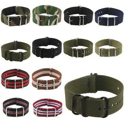 Nylon Wristwatch Strap Band Military Army Divers 18/20/22 mm Fiber Unisex Style