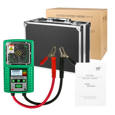 6/12V Battery Tester Cranking Charge Traction Test for UPS/Solar /Marine Battery