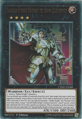Yu-Gi-Oh: SACRED NOBLE KNIGHT OF KING CUSTENNIN - CYHO-EN089 Ultra Rare 1st Edi