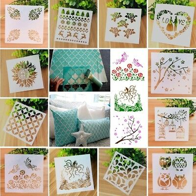 2 PCS DIY Crafts Layering Stencil Painting Scrapbooking Embossing Paper Cards