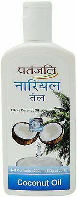 Pure & Edible Coconut Oil By Patanjali - Direct From India (200 ml)