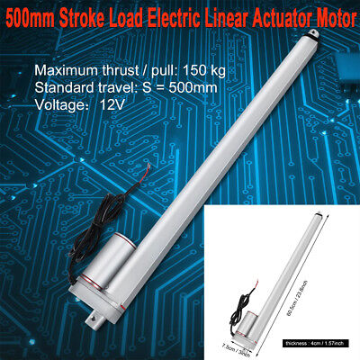 "750N 500mm /20"" Stroke Linear Actuator Electric Motor for Electric Lifting DC12V"