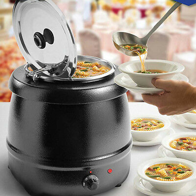 10L Stainless Steel Soup Kettle Electric Bolier 98°C Restaurant Soup Furnace