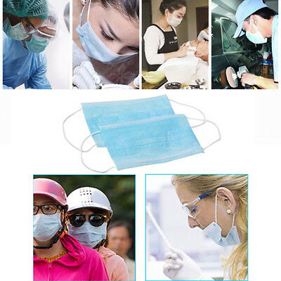 20pcs/Bag Disposable Surgical Dust Virus Flu Protectors .Face Masks Loope caps