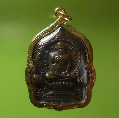 Perfect! Old Amulet Lp Ruey Wealth And Rich From Siam !!!