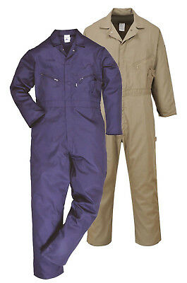 PORTWEST Dubai Coverall Lightweight Overall Safety Boilersuit Cotton Zip C812