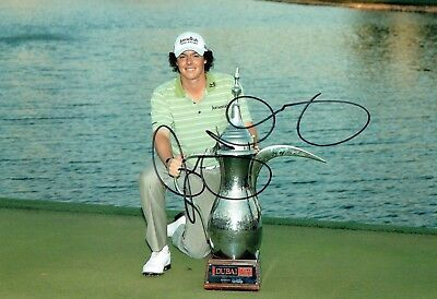 Rory McILROY SIGNED AUTOGRAPH 12x8 Photo 5 AFTAL COA European Golf Ryder Cup