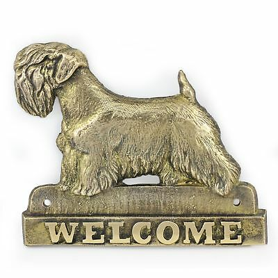 Sealyham Terrier - brass tablet with image of a dog, Art Dog USA