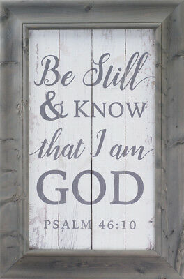 Wall Art Decor Be Still And Know That I Am God Religious Wall Art