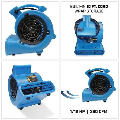 Mini Storm Air Mover Carpet Dryer Floor Blower Fan Home Use Blue 1/12 HP Flood