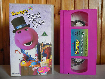 BARNEY'S TALENT SHOW - PolyGram - Sing Along 1-6 - Over 20 Fun Songs - Pal  VHS