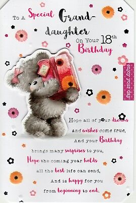 Granddaughter 18th Birthday Card To A Special On Your