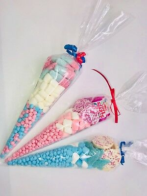 pre filled sweet cones X6 Baby Shower Girl Boy Birthday Party