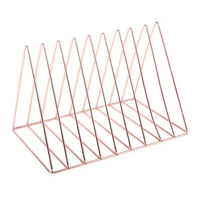 Simple Stylish Metal Desktop Bookshelf, Book Stand Rack Holder, Rose Gold