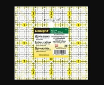 4 INCH x 4 INCH OMNIGRID SQUARE TEMPLATE RULER PATCHWORK QUILTING CRAFTING bnew