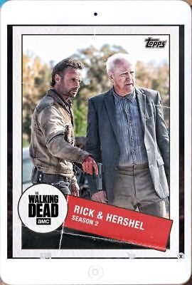 TOGETHER MARATHON WAVE 2 RICK & HERSHEL Topps Walking Dead Trader Digital Card