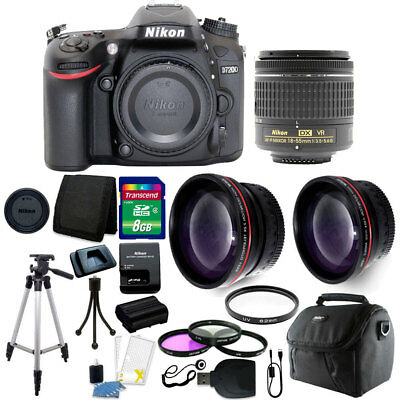 Nikon D7200 24.2MP DX-Format DSLR Camera with 18-55mm VR + 24GB Accessory Bundle