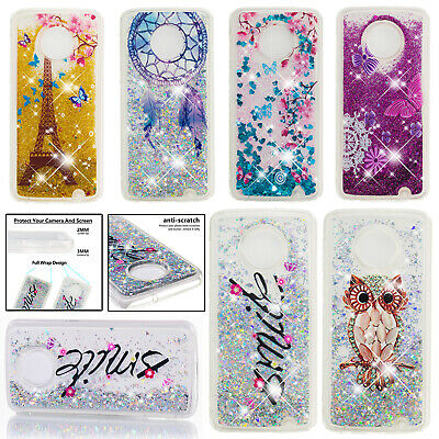Shockproof TPU Rubber Clear Bling Case Cover for Motorola Moto E5 Play/G5s Plus
