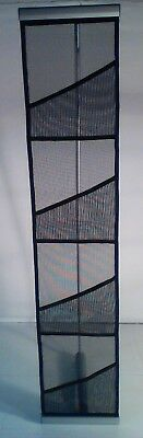Four Pocket Mesh Floor Literature Rack Brochure Magazine Display Holder Stand