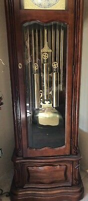 Preowned  Gorgeous Ridgeway Tubular  Grandfather Clock Mode-103
