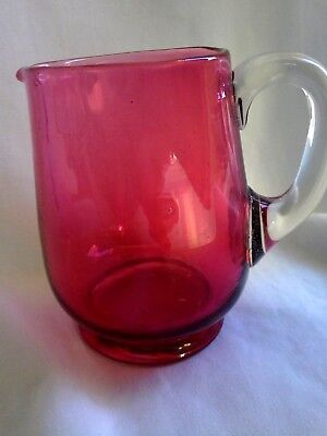 Lovely Vintage Cranberry Jug