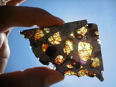 AFFORDABLE / STUNNING 27.7 gram ESQUEL PALLASITE METEORITE, Highly translucent