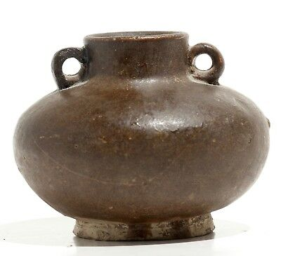 Antique Song Dynasty Brown Ware Jarlet Chinese Pottery South East Asian Export