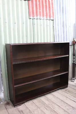 Mid Century Three Tier Mahogany Bookshelves Circa 1940's