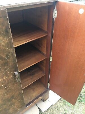 BERICK 1950s Antique Shabby Chic Vintage Wood Beresford Hicks Cupboard Cabinet