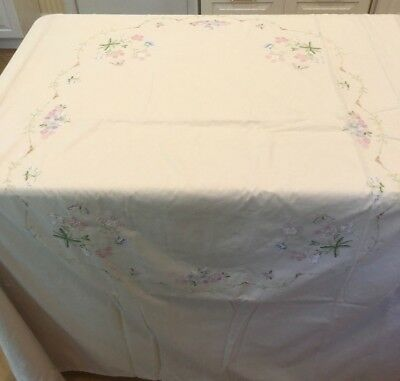 Vintage Embroidered Cotton Duvet Cover for Double Bed