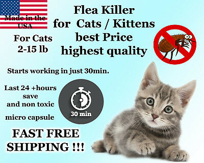 50 Capsules Instant Flea Killer Control Cats / Kittens 2-15lb prevention NEW