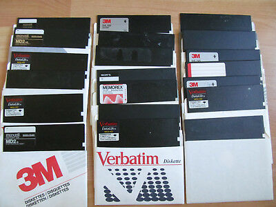 "5 1/4""(5.25"") Used Lot of 20 various manuf. floppy disc"